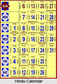 Days of the Week , Hindu Calendar