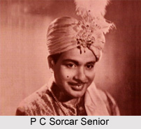 P C Sorcar , Senior, Indian magician