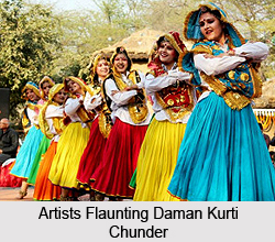 Daman Kurti Chunder, Costume of Haryana