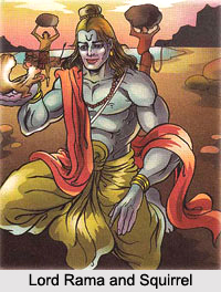 Rama and the Squirrel, Indian Legend