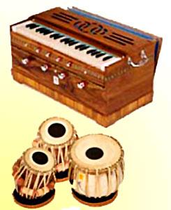 Harmonium and tabla