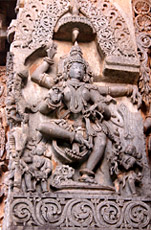 Hoysaleswara Temple Dancing sculpture