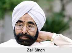 Zail Singh  , First Sikh President of India