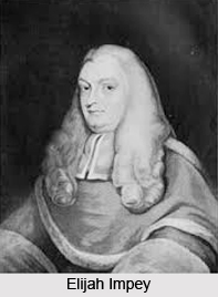 Elijah Impey, First Chief Justice of Supreme Court