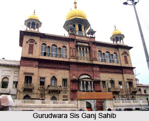 Gurudwara Sis Ganj Sahib, Chandni Chowk, Delhi