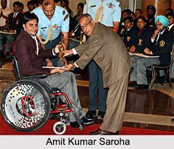 Amit Kumar Saroha, Indian Paralympian