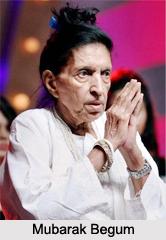 Mubarak Begum, Indian Vocalist