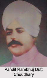 Pandit Rambhuj Dutt Choudhary, Indian Freedom Fighter