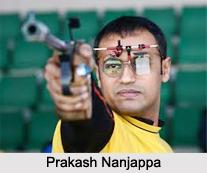 Prakash Nanjappa, Indian Shooter