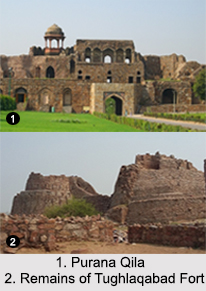 Forts in National Capital Territory of Delhi