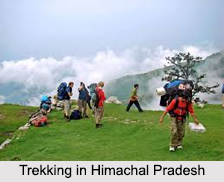 Trekking In Himalayan Mountain Range, Adventure Sport in India