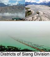 Districts of Siang Division, Arunachal Pradesh