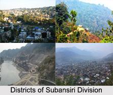 Districts of Subansiri Division, Arunachal Pradesh