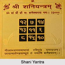 Shani Yantra, Astrology