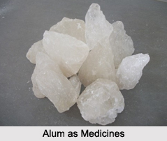 Use of Alum as Medicines