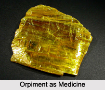 Use of Orpiment as Medicines