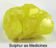 Use of Sulphur as Medicines