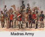 Madras Native Infantries, Madras Army