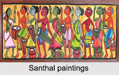 Tribal Paintings of Eastern India, Indian Paintings
