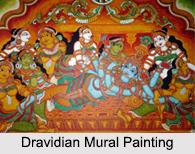 Dravidian Mural Painting, Indian Paintings