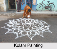 Kolam, Indian Paintings