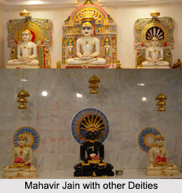 Images of Mahavira with Jain Deities