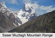 Saser Muztagh Mountain Range ,India