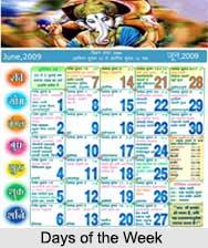 Days of the Week , Hindu Calendar