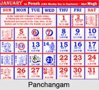 Panchangam , Hindu Calendar