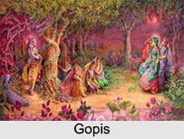 Gopis, Indian Purans