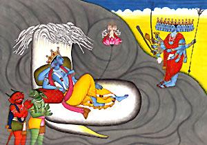 Kaitabha and Madhu, Demon, Hindu Mythology