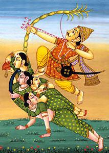 Rati, Indian Goddess and Kama, the god of love