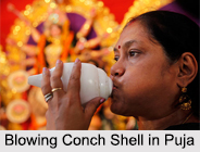 Conch Shell, Symbols in Hindu Iconography