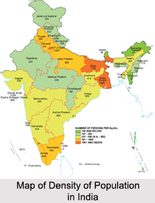 Density of Population in India