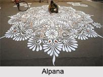 Alpana, Follk Paintings of West Bengal