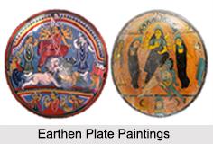 Earthen Plate Paintings, Folk Paintings of West Bengal