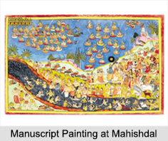 Manuscript Painting at Mahishdal, Folk Paintings of West Bengal