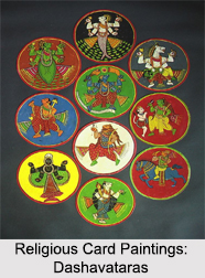 Religious Card Paintings