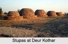 Stupas at Deur Kothar, Madhya Pradesh