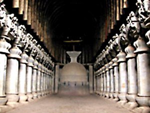 Chaitya hall at Karle, Buddhist Indian Sculpture