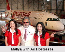 Vijay Mallya started a new domestic airline service called Kingfisher Airlines