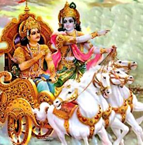 Krishna advises to Arjuna, Bhagavad Gita