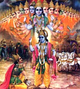 Krishna Addressing Geeta to Arjuna with explaining philosophy of discrimination