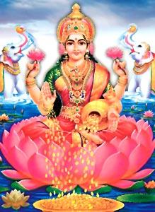 Lakshmi, the goddess of wealth