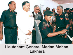 Lieutenant Governor of Pondicherry, Lt Gen MM Lakhera (Retd) going around the Exhibition