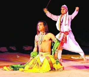 A scene from Mahachaitra by H. S. Shiva Prakash, Indian Theatre Personality