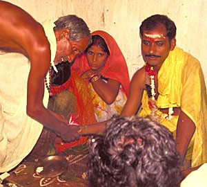 Wedding ceremony of Maithili Brahmin couple - Religion and Society of the Maithil community