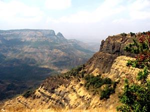 Western Ghat hills at Matheran in Maharashtra, India