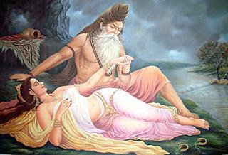 Menaka,  Apsara and Vishwamitra