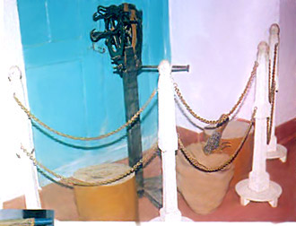 A model of a rope making machine -  Manual Labour in Cellular Jail, Andaman And Nicobar Islands